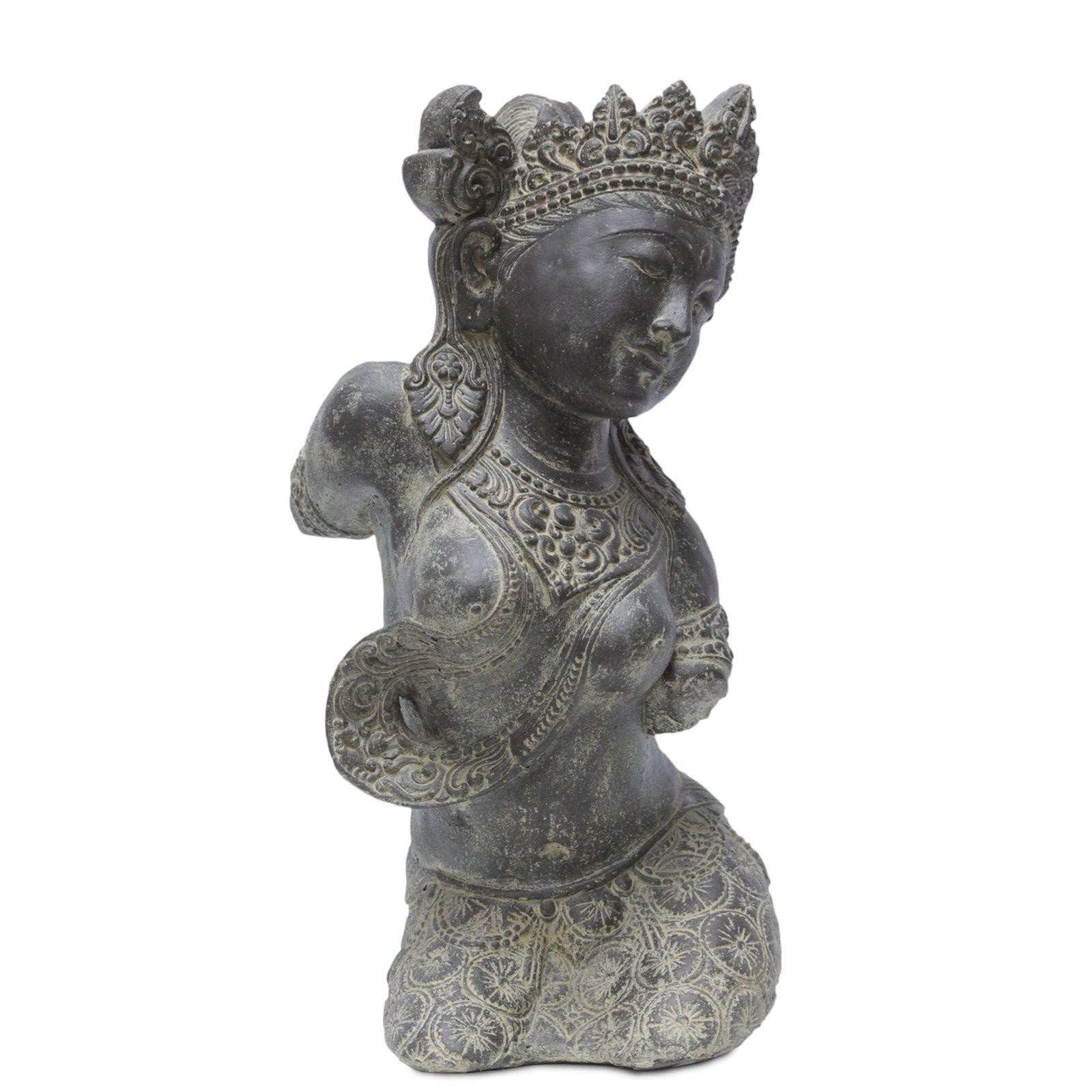 sita figur skulptur stein gott buddha statue lavasand bali garten stein deko 60c ebay. Black Bedroom Furniture Sets. Home Design Ideas