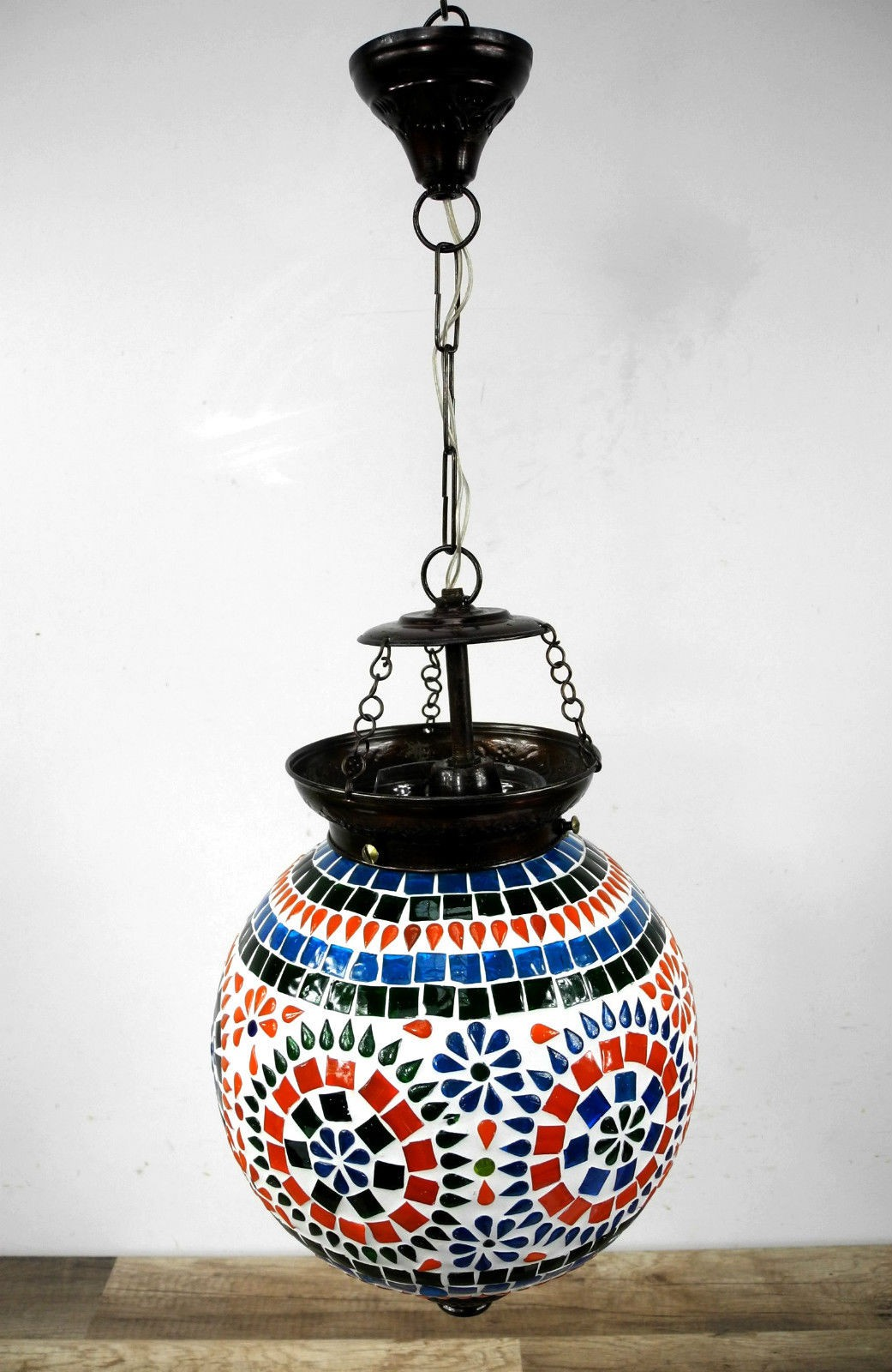 h nge mosaik lampen rund orientalisch dekoleuchte bunt color nr 7406 ebay. Black Bedroom Furniture Sets. Home Design Ideas