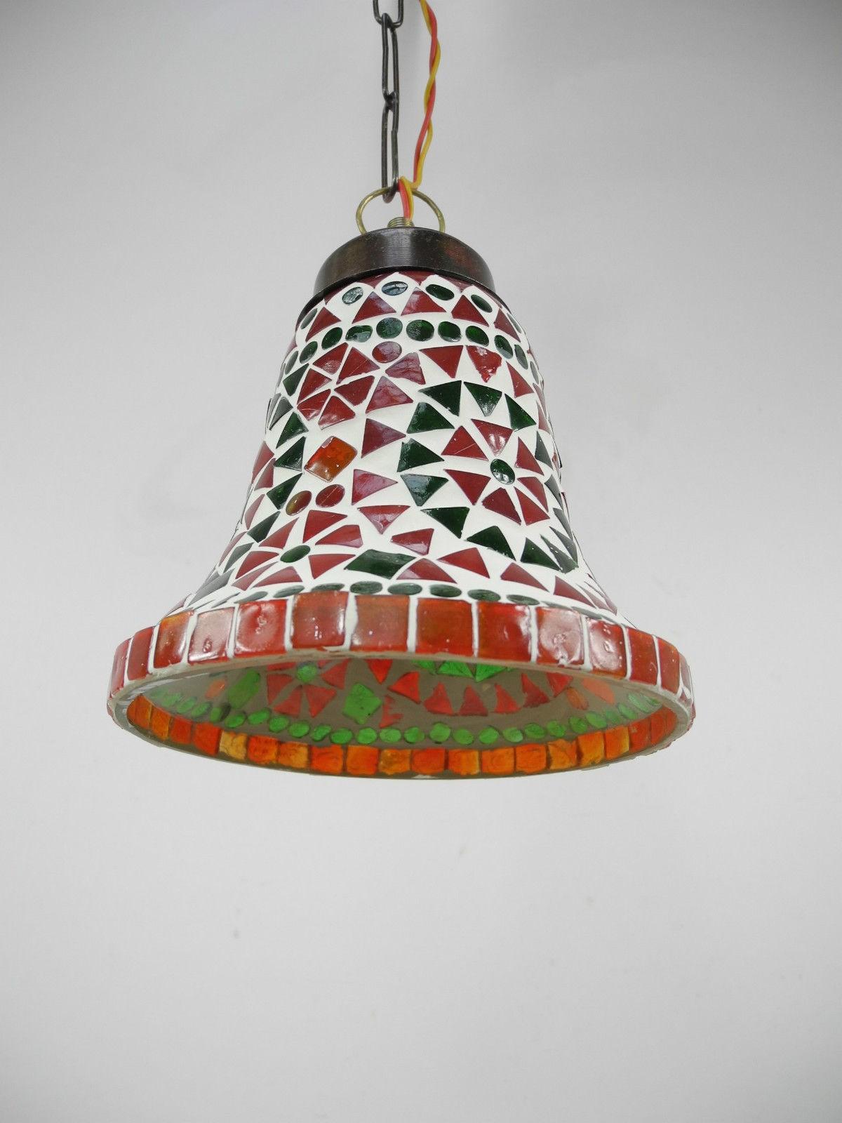 H nge mosaik lampen glocke orientalisch dekoleuchte bunt color nr 7405 ebay for Mosaik lampe orientalisch