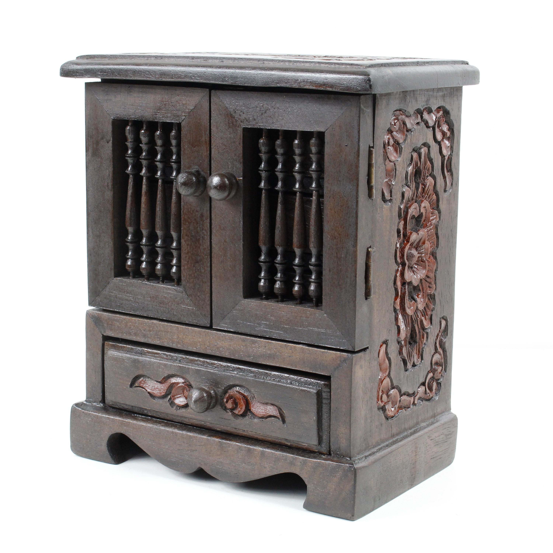 schmuckschrank aufbewahrung schmuck schatulle schr nkchen. Black Bedroom Furniture Sets. Home Design Ideas