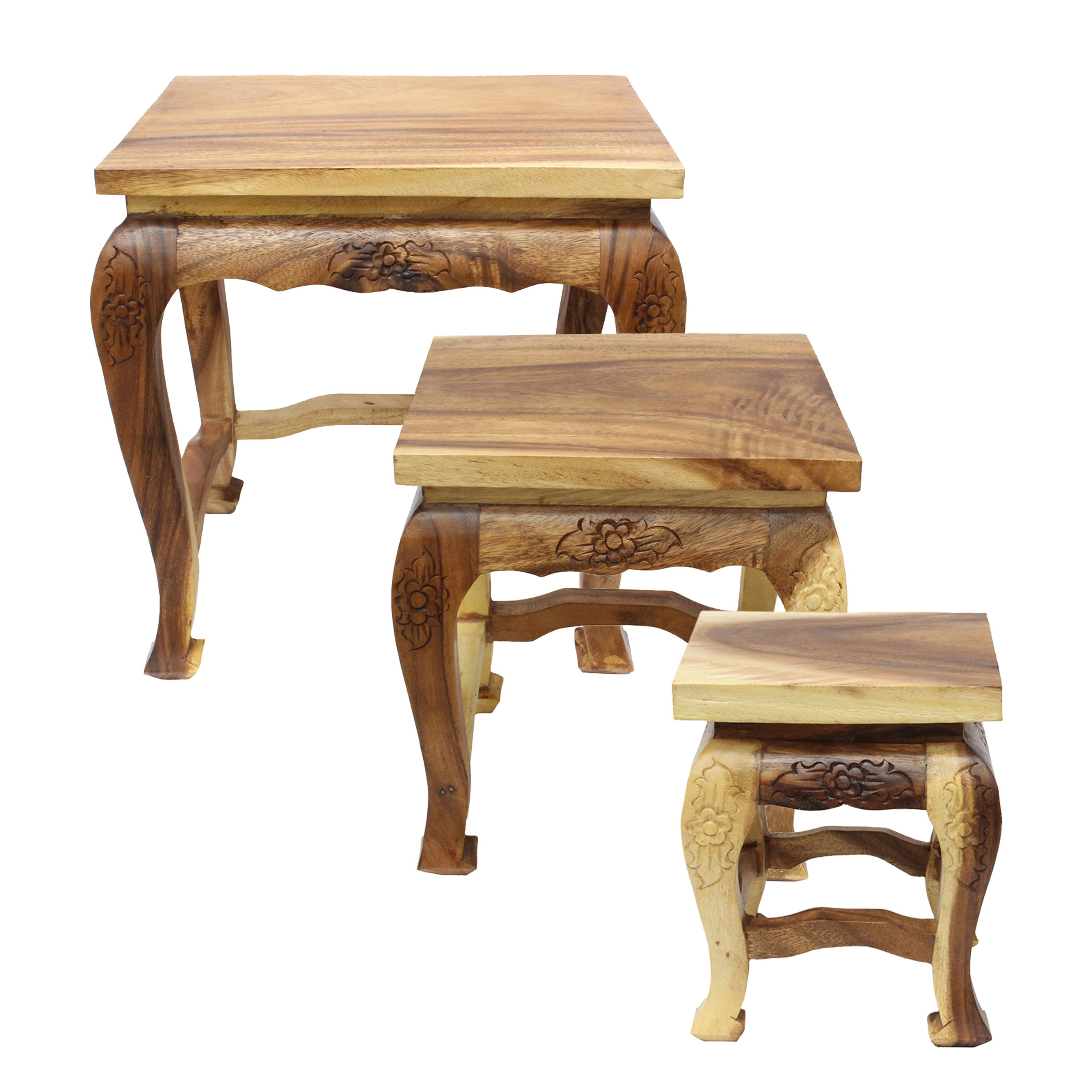opium hocker holzhocker beistelltisch nachttisch blumenhocker holz barock massiv ebay. Black Bedroom Furniture Sets. Home Design Ideas