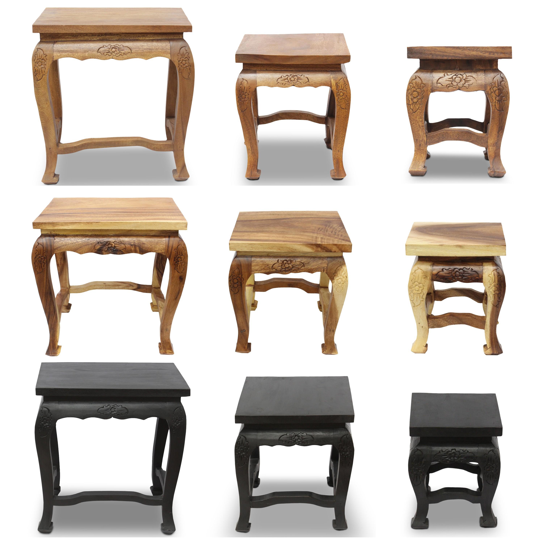 opium hocker tisch holzhocker beistelltisch nachttisch. Black Bedroom Furniture Sets. Home Design Ideas