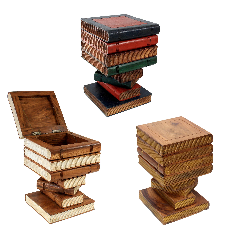Bücherhocker Hocker Holzhocker Bücherstapel Design ca. 30x30 cm ... | {Design hocker holz 88}