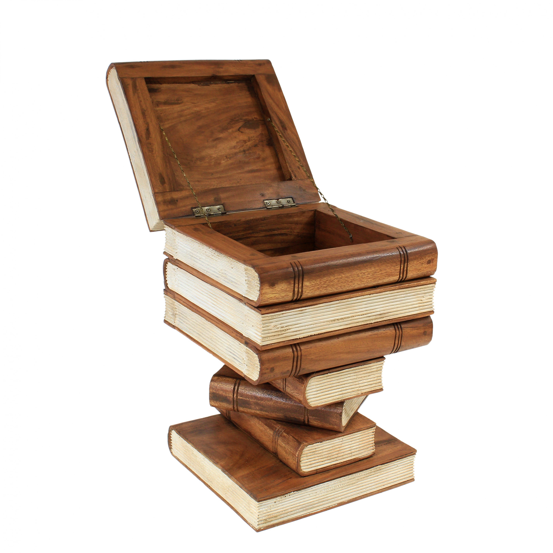 b cherhocker hocker holzhocker b cherstapel design ca 30x30 cm 50cm hoch holz ebay. Black Bedroom Furniture Sets. Home Design Ideas