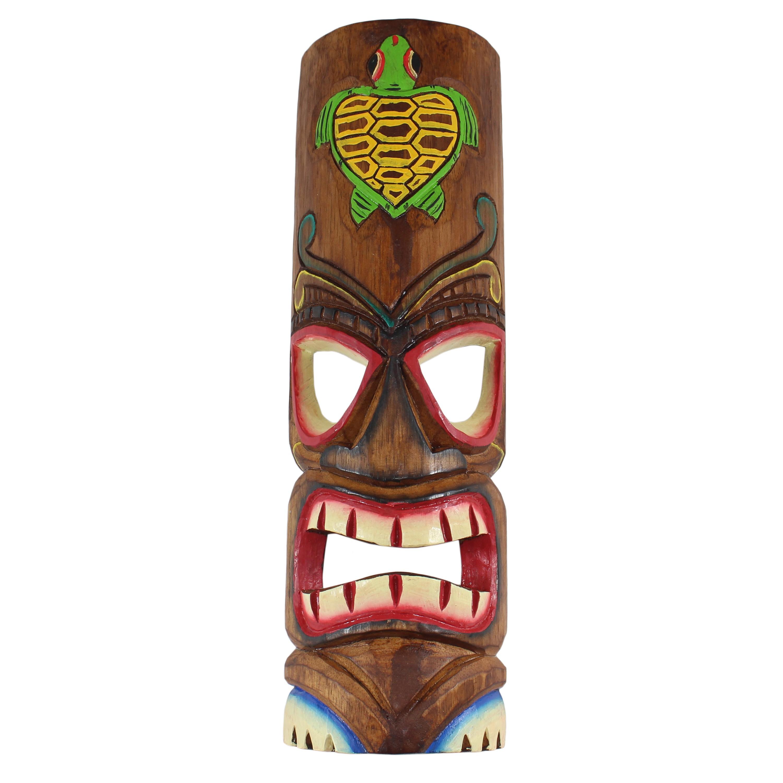 Hawaii Deko hawaiianische maske hawaiimaske tikimaske dekomaske wandmaske deko 50cm holz tiki