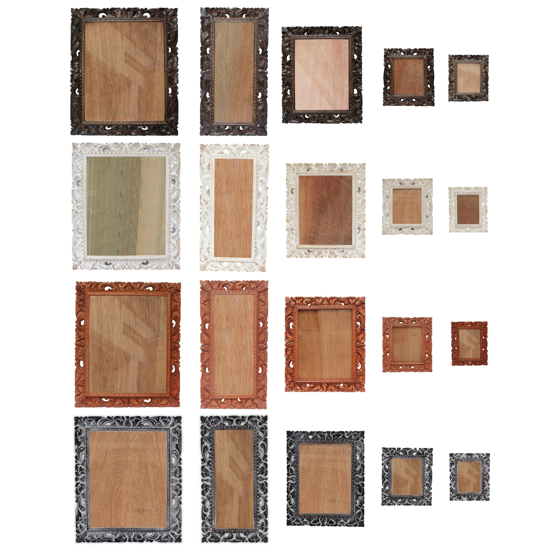 bilderrahmen aus holz foto rahmen schnitzerei wand deko glas. Black Bedroom Furniture Sets. Home Design Ideas