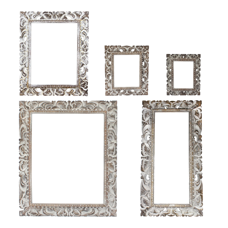 rustikaler bilderrahmen aus holz foto rahmen schnitzerei wand deko ohne glas. Black Bedroom Furniture Sets. Home Design Ideas