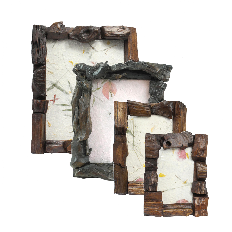 rustikaler bilderrahmen aus holz fotorahmen rahmen. Black Bedroom Furniture Sets. Home Design Ideas