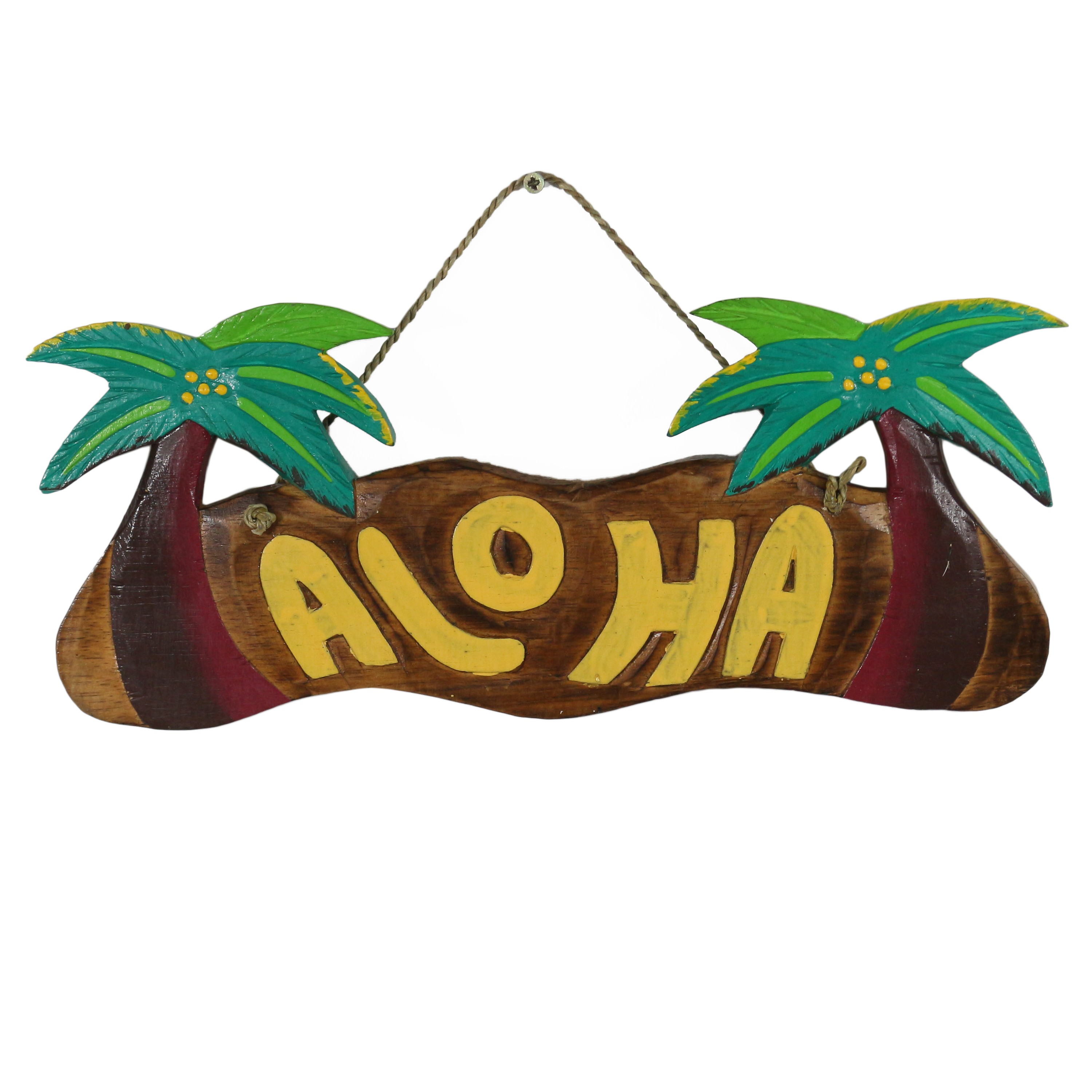Aloha t rschild wandschild deko holzschild s dsee hawaii for Mottoparty deko