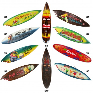 Surfbrett Deko Holzschild Hawaii Wandbrett Brett Bar Party ca. 100 cm – Bild 1