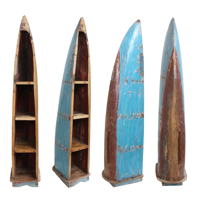 bootsregal regal boot teakholz massiv 100 recyceltes fischerboot shabby antik ebay. Black Bedroom Furniture Sets. Home Design Ideas