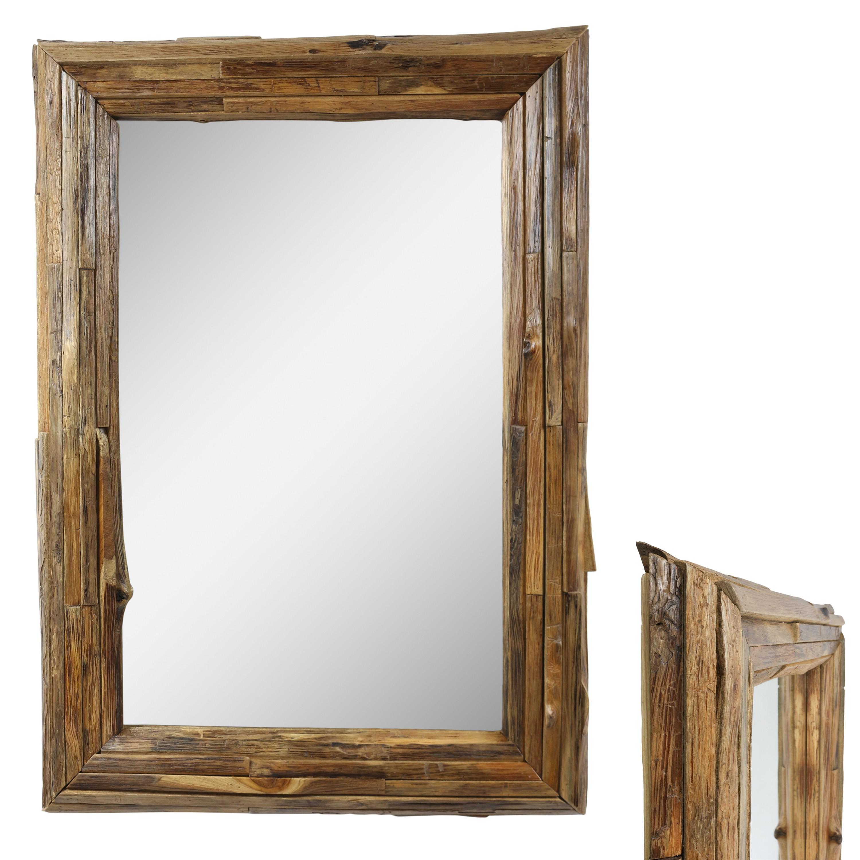 gro er spiegel rahmen aus holzst cken massiv holzrahmen wandspiegel rund eckig ebay. Black Bedroom Furniture Sets. Home Design Ideas