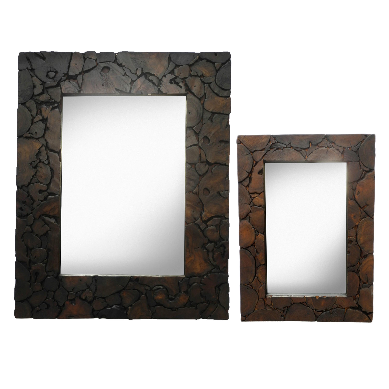 Spiegel Rahmen Antik Holz Wandspiegel Flurspiegel ca. 80 x 100 cm ...