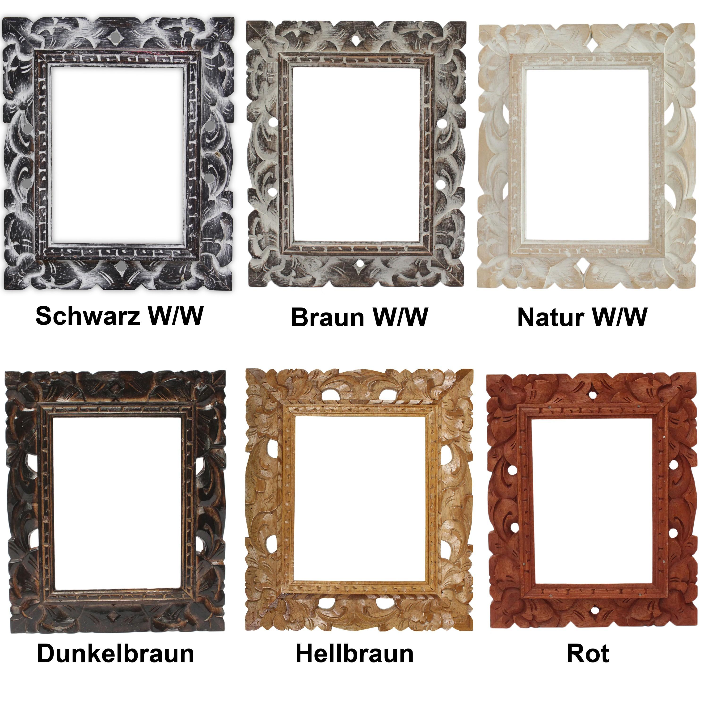 Rustikaler Bilderrahmen Holz Foto Bilder Rahmen Schnitzerei Ohne ...