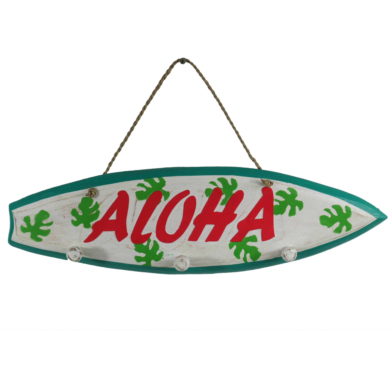 Garderobe schild  Hawaii Garderobe Südsee Kleiderhaken Wandbrett Deko Wandschild ...
