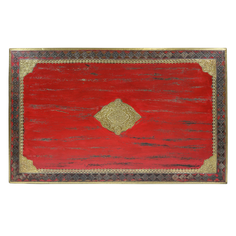 Roter Couchtisch Im Shabby Chic Stil Holz Wohnzimmertisch Holztisch Tisch Vintage Retro Nostalgisch Used Look